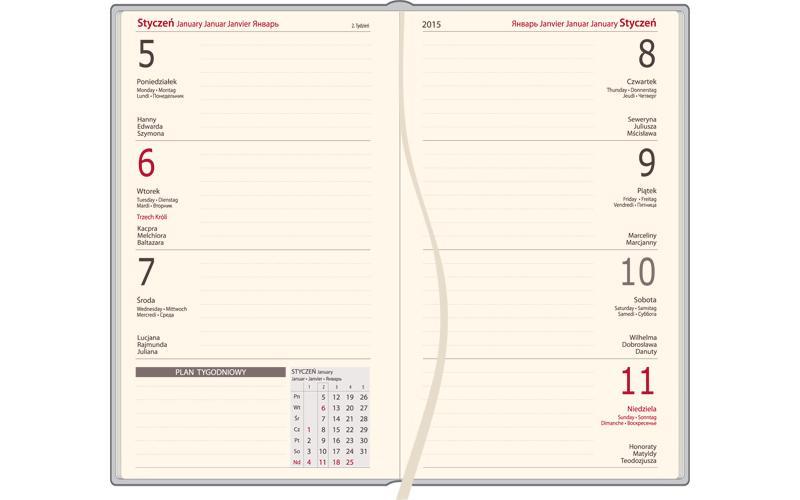 Kalendarz A6 DENIM