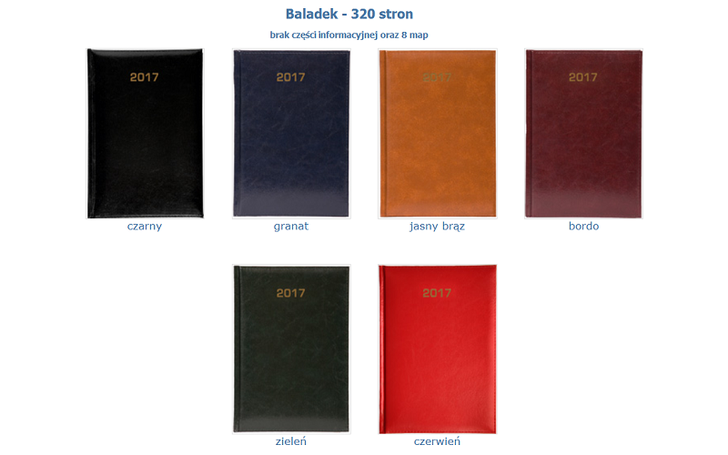 Kalendarz A4 Baladek - tygodniowy