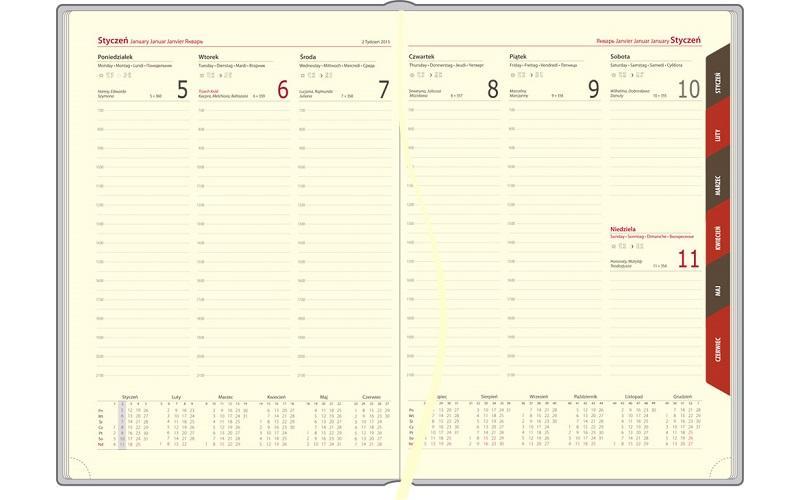 Kalendarz A4 - Nebraska tygodniowy