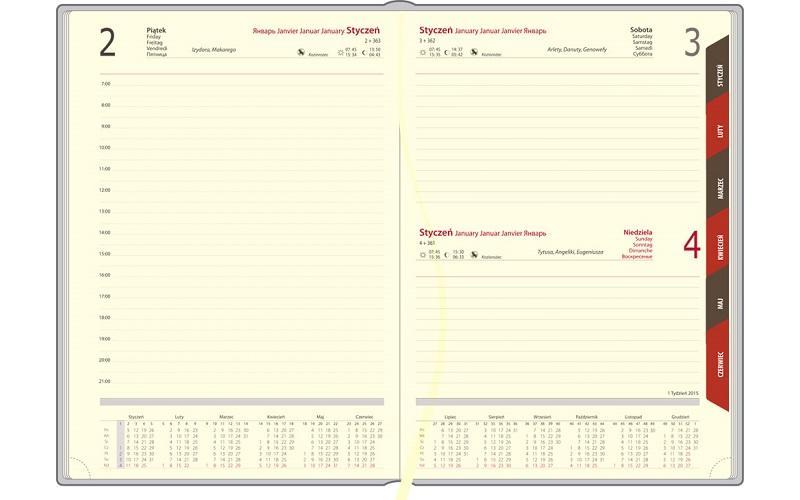 Kalendarze A4 Demin dzienny