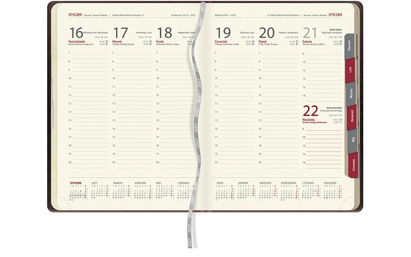 Kalendarz KK36 tygodniowy