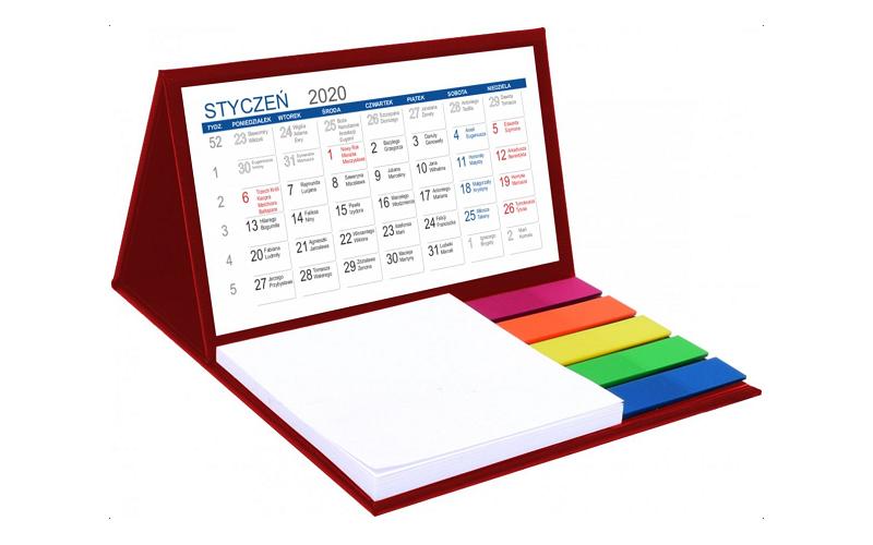 Kalendarz biurkowy z notesem - MINI