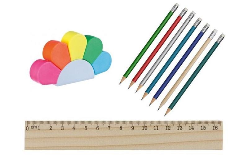 Bleistifte, Lineale, Textmarker